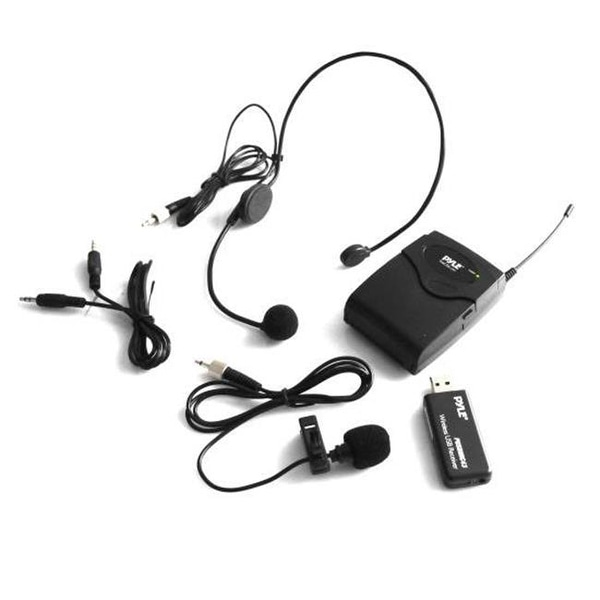 Pyle PUSBMIC43 Belt Pack Microphone System with Wireless USB Receiver