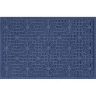 707610023 Water Guard Stained Glass Mat in Navy - 2 ft. x 3 ft.