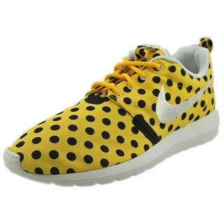 Nike Roshe NM QS Women Round Toe Canvas Yellow Sneakers
