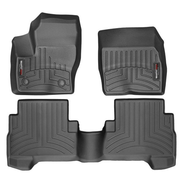 WeatherTech 44459-1-2 Black Front & Rear FloorLiner: Ford Escape 2013 +
