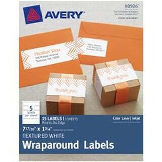 "White - Textured Wraparound Labels 7-17/20""X1-3/4"" 15/Pkg"