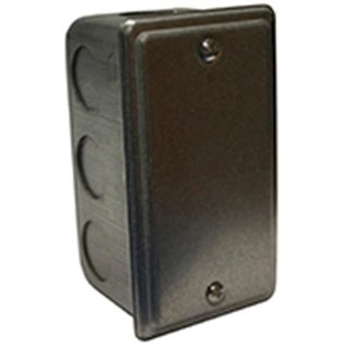 Leviton LSA95A20-1 Single Gang Metal Switch Box with Cover
