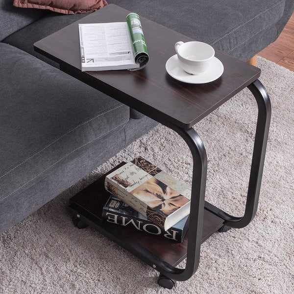 Coffee Table Tray Home Goods: Shop Costway 2 Tier U-Shaped Sofa Side End Coffee Table