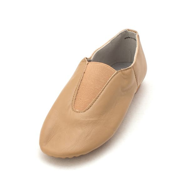 Linodes PU Leather Jazz Shoe Slip On Dance Shoes with Circle Elastic for Girls and Boys Toddler//Little Kid//Big Kid