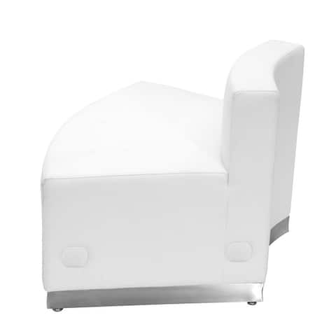 """LeatherSoft Convex Chair w/Stainless Steel Base - Reception Furniture - 41.5""""W x 25.25""""D x 27""""H"""