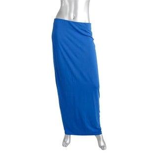 Zara W&B Collection Womens Jersey Solid Maxi Skirt - L