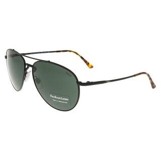 Ralph Lauren PH3094 926771 Black Aviator Sunglasses