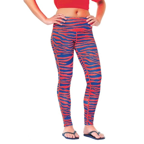ff53b4e657dd7b Shop Women's Blue and Red Tiger Print Team Leggings - Free Shipping On  Orders Over $45 - Overstock - 15929368