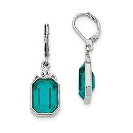 Silvertone Bridal Pave Crystal Post Earrings