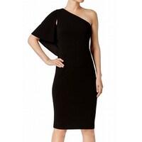 7a1f022a2813 Shop Calvin Klein Deep Black Women's Size 4 Chiffon Cape Sheath ...