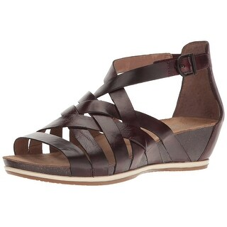 Dansko Womens Vivian Leather Open Toe Casual Strappy Sandals
