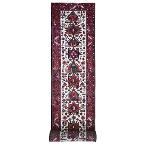 """Hand Knotted Ivory Persian with Wool Oriental Rug (3' x 15'8"""") - 3' x 15'8"""""""