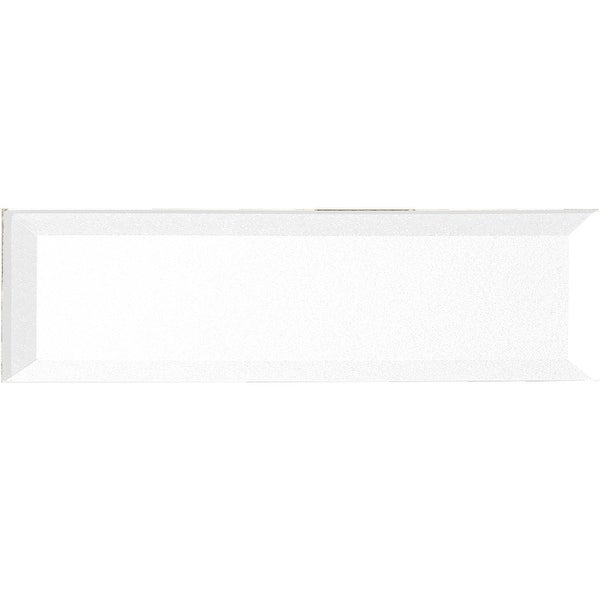 "Miseno MT-WHSFOB0416-EW Forever - 4"" x 16"" Rectangle Wall Tile - Semi-Gloss Visual - White"