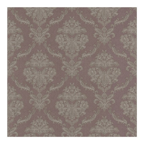 Westminster Mauve Damask Wallpaper - 20.5in x 396in x 0.025in. Opens flyout.