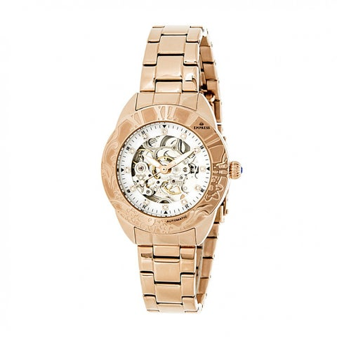 Empress Godiva Women's Automatic Watch, Mother of Pearl Dial, Stainless Steel Band, Sapphire-Coated Crystal, Luminous Hands