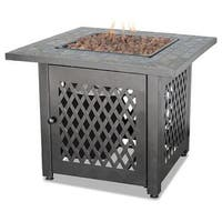 Endless Summer, Gad1429sp, Gas Outdoor Fireplace With Slate Mantel