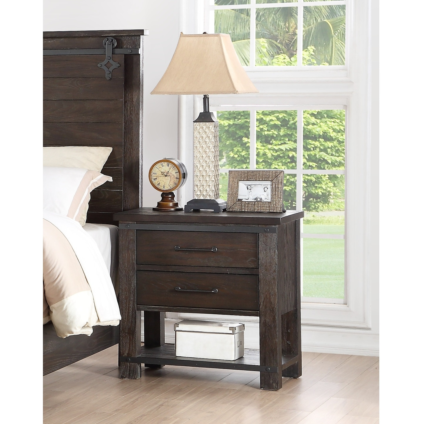 The Gray Barn Chanelle Modern Farmhouse 2 Drawer 1 Shelf Nightstand On Sale Overstock 31701913