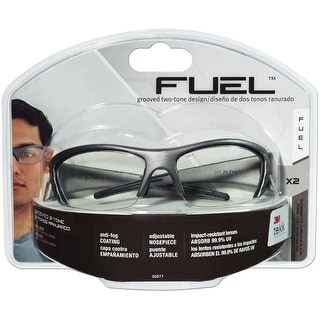 3M 90877-80025T Fuel X2 High Performance Safety Eyewear, Clear Lens