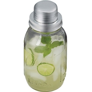 Sharper Image 3345005 Cocktail Shaker, Clear, 32 Oz