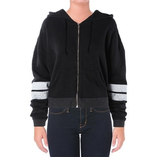 Wildfox Couture Womens Varsity Jacket Striped Long Sleeves