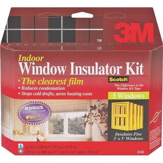 "3M 2141W6 Indoor Window Insulation Kit, 62"" x 210"""