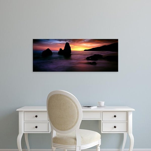 Easy Art Prints Panoramic Image 'Rodeo Beach at sunset, Golden Gate National Recreation Area, California' Canvas Art