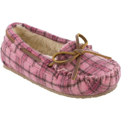 Minnetonka Girls' Cassie Slipper Pink Suede