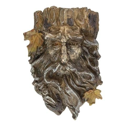 """10"""" Brown Tree Face Outdoor Garden Planter"""