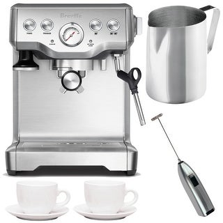 Breville BES840XL Infuser Espresso Machine w/ Frothing Pitcher Bundle