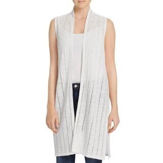 Avec Womens Duster Sweater Knit Sleeveless