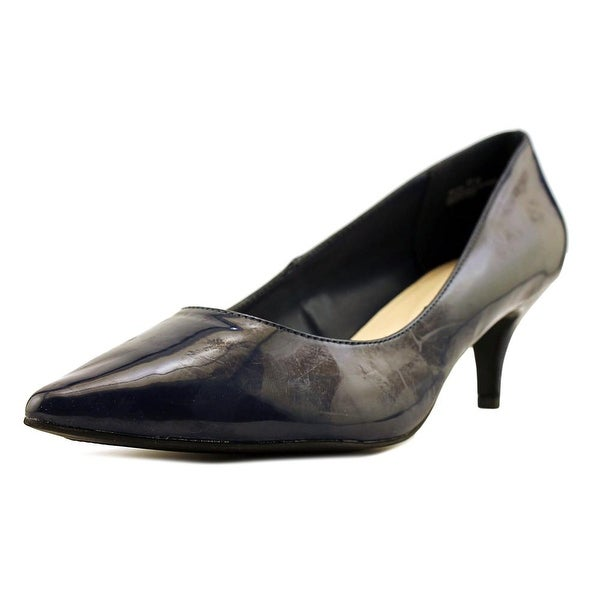 Relativity Viva Women Pointed Toe Leather Blue Heels