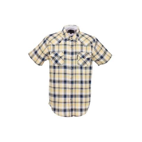 Outback Trading Western Shirt Mens Carlton Plaid Short Sleeve