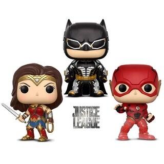 Funko Pop! Movies: Dc Justice League - Batman, Wonder Woman The Flash - Summer Convention 2018 Exclusive (3 Items)