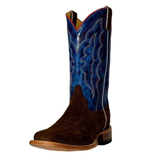 Cinch Western Boots Mens Hippo Print Square Horseman Chocolate