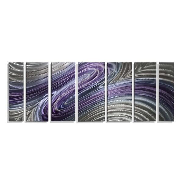 Statements2000 3D Metal Wall Art Purple Silver Abstract Painting Decor Jon Allen