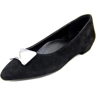 Vaneli Gaenor Women W Pointed Toe Suede Black Flats
