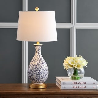 """Link to Safavieh Lighting 28-inch Avi LED Table Lamp (Set of 2) - 14""""x14""""x27.5"""" Similar Items in Table Lamps"""