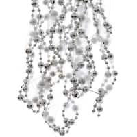 Silver Bead And Ribbon Garland - 2.7m by Fizzco
