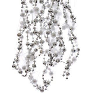 Silver Fabric Bead Garland