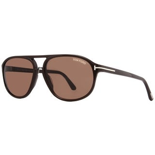 TOM FORD Aviator Jacob TF447 Men's 49J Brown Brown Sunglasses - 60mm-15mm-140mm
