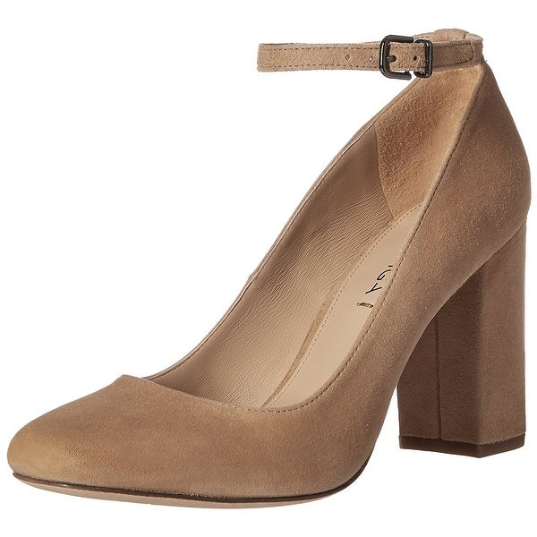 Via Spiga Women's Selita Ankle Wrap Pump, Camel, Size 8.5