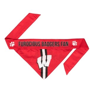 Wisconsin Badgers Pet Bandanna Size M