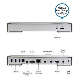Startech Thunderbolt 2 Dock  4K  Laptop Docking Station  Thunderbolt To Hdmi / Usb 3.0 / Gigabit Ethernet / Esata