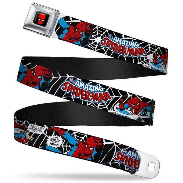 Marvel Comics Spider Man Full Color The Amazing Spider Man 100Th Seatbelt Belt