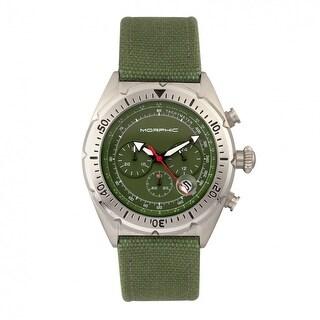 Morphic M53 Series Men's Quartz Chronograph Watch, Genuine Leather Band, Luminous Hands