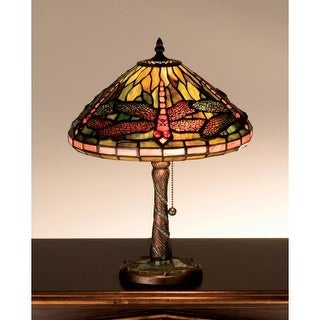 Meyda Tiffany 27158 Stained Glass / Tiffany Accent Table Lamp From The  Mosaic Dragonfly Collection