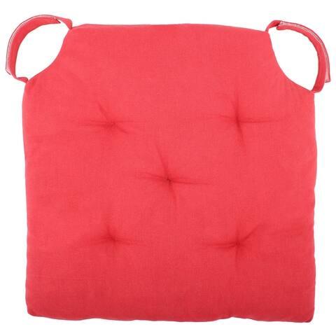 Cottone Polyfill Fiber Chair Pads w/5 Velcro Tucks (Set of 8)