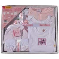 Bambini Baby Girls Pink Pastel Cotton Interlock 7-Pc Boxed Gift Set - One size
