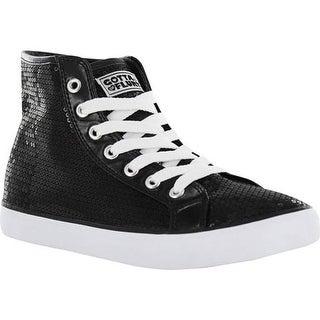 Gotta Flurt Girls' Disco II Hi G Sneaker Black Sequin/Pu