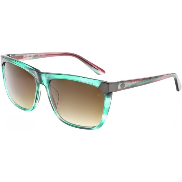 983d8173d3 Shop Spy Gradient Emerson 673244070355 Green Clubmaster Sunglasses ...